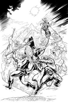 Realm of the Underworld Cover Inks by JeremiahLambertArt