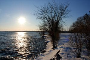 Winter Sun on the River by KeenPhotography