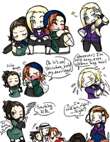 Genderbent Team 10 Doodles by MerrilyWeRosalynn