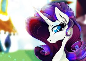 Rarity at Canterlot by Rariedash