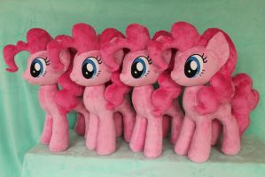 Pinkie Pie X 4 by WhiteDove-Creations