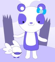 Bela the mediumslateblue panda by to-much-a-thing