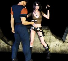 Lara in trouble by fightgirl2004