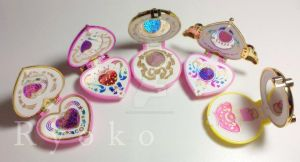 Sailor Moon Brooches - customized - by Ryoko-san18
