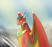Tomek the red dragon by Avianine