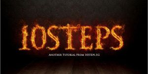 Text on Fire Effect by Designslots
