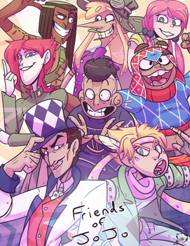 Friends of Jojo by bird-kings