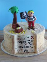 Pirate Cake by cakecrumbs