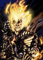 Ghost Rider by Xaede and Doom by StevenVnDoom