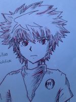 Ballpen sketch : Killua by PrinceKurapika