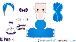 Vinyl Scratch Dj Pon-3 Papercraft by matryoshka12