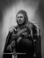 Eddard Stark - Game of Thrones by RaymondMinnaar