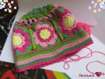 Colorful Grannysquare-beanie by Herzstueck-Handmade