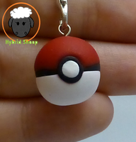 Pokeball Charm by Hybrid-Sheep