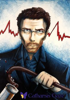 House MD ACEO by CatharsisGaze