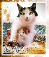 Card with Christmas and New Year by Luba-Lubov-13