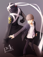 P4 Hero and Izanagi by Arya032