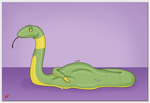 Fanart: Shiny Ekans by TheAngryFishbed