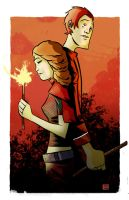 Hermione and Ron by ryancody