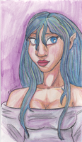 Sumiko in Watercolor Pencil by AluminumSunset