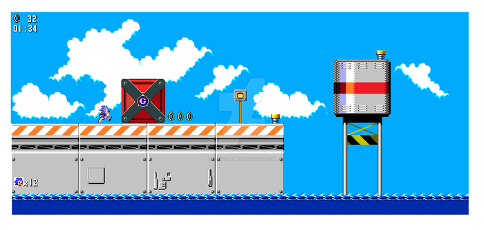Metal Harbor Zone 8 Bit Mockup by funkyjeremi