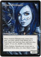 Magic Card Alteration: Solemn Simulacrum 11-3 by Ondal-the-Fool