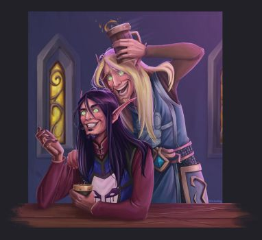 One Evening at the Tavern by blacksmiley