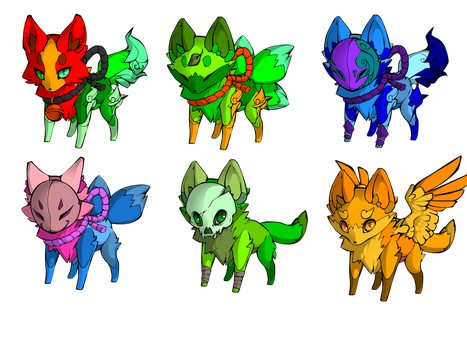 All My Foxies by MaxRyder50
