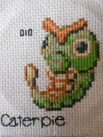 Caterpie Cross Stitch by Mickeycricky