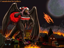 COM : Issilora the Evil Santa Censored by whiteguardian