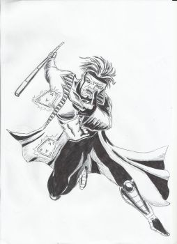 Gambit B and W by ShadowManGMR