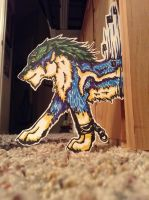 Paper child wolf link by AstaraBriarart