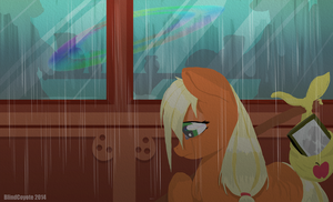 In the rain by BlindCoyote
