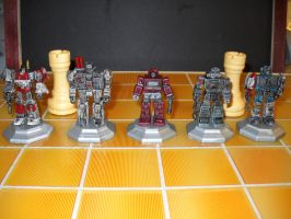 Transformers custom chess set decoy rooks by Prowlcop