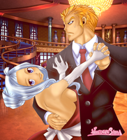 the escort Mirajane and Laxus [Fairy Tail] by carly4015