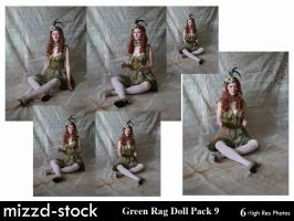 Green Rag Doll Pack 9 by mizzd-stock
