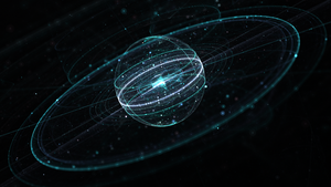 Space and Particles 5 by JanRobbe