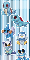 Pokemon Water Starters by Bluefirewings