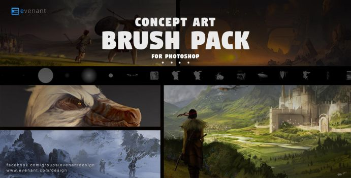 Concept Art Brush Pack by SoldatNordsken