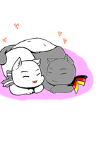 Kitty love by MrLudwigBeilschmidt