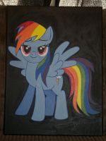 Rainbow Dash painting by Blindfaith-boo