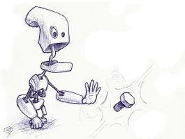 Small magical robot by Snoeffel