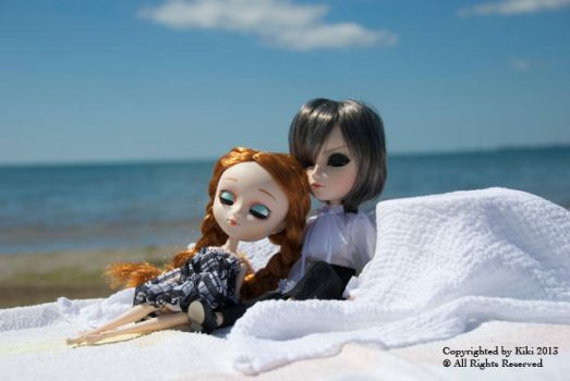 On Our Day Out: Sunbathe by white-ginger-lily