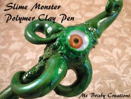 Slime Monster Polymer Clay Pen by Brisbykins