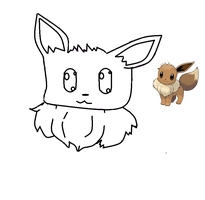 half finished eevee fail by bluebubblepop