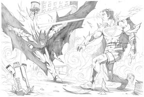 Batman V Superman commission 1 by Merrk