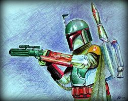 Boba Fett in Action by philippeL