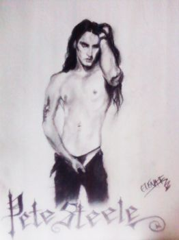 Pete Steele Charcoal by Vampirainbow