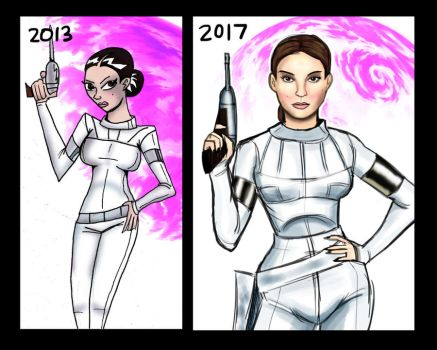Padme:2013 vs 2017 by Kyber02