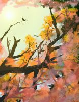 Speed Painting Studies - 03/27/12 Colourful Leaves by DemonicMasterpiece
